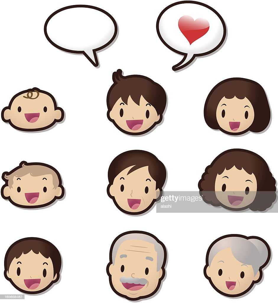 Cute Icon Set ( Emoticons ) - Dear Family Members(Love)