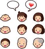 Cute Icon Set ( Emoticons ) - Dear Family Members(Love)