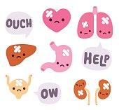 Cute internal organs
