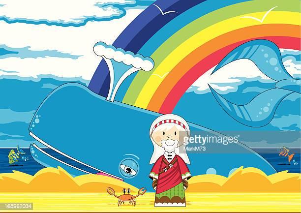 Linda Jonah and the Whale Biblia escena