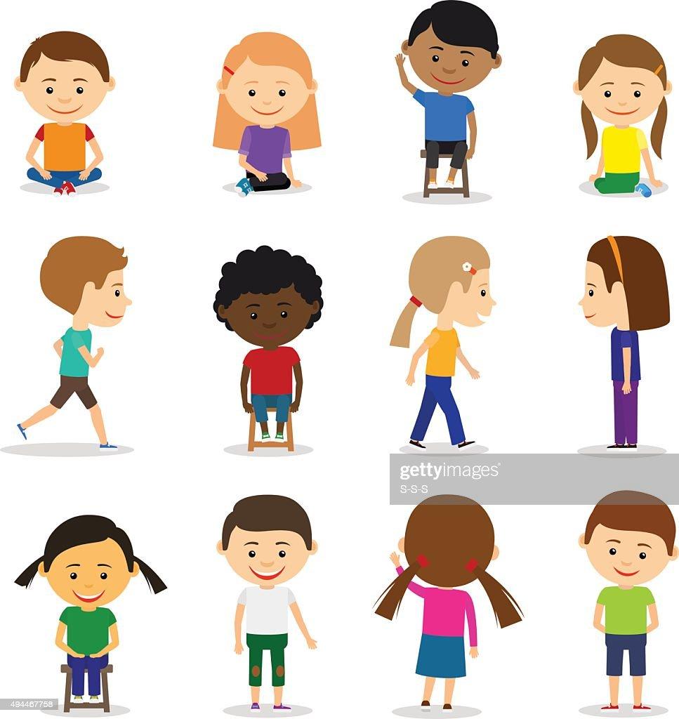 Cute kids characters