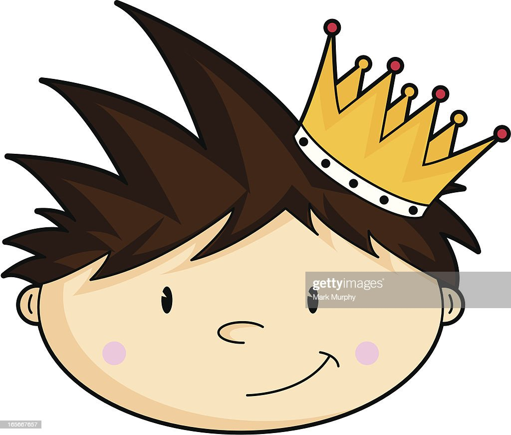 Cute King Characters Head