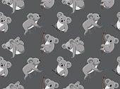 Cute Koala Seamless Wallpaper