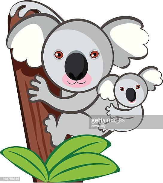 illustrations, cliparts, dessins animés et icônes de mignon kuala - koala
