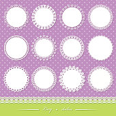 Cute lacy doilies big set.