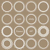 Cute lacy doily frames big set.
