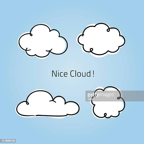 cute little clouds - cloudscape stock illustrations, clip art, cartoons, & icons