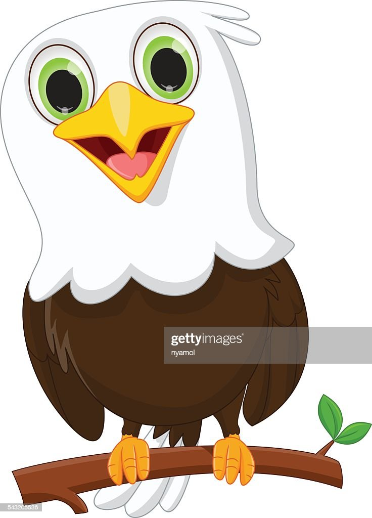 cute little eagle on a tree branch