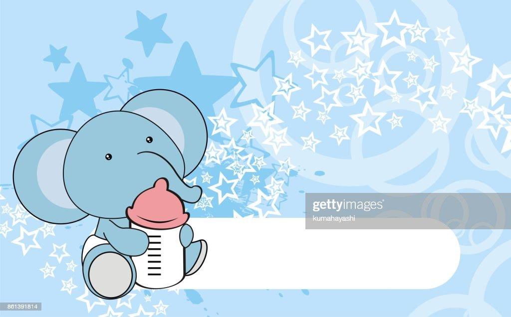 cute little elephant baby cartoon background