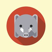 Cute little elephant icon. Animal icons series.