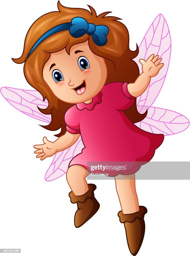 Cute little fairy in fly