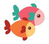 Cute little fish - Stock Illustration