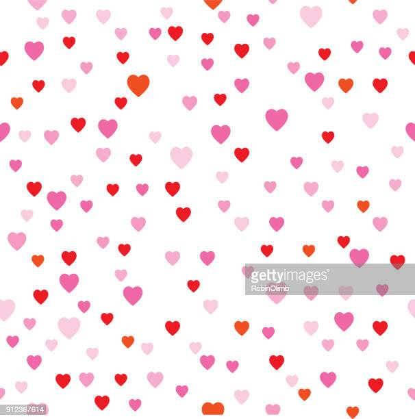 cute little hearts seamless pattern - small stock illustrations