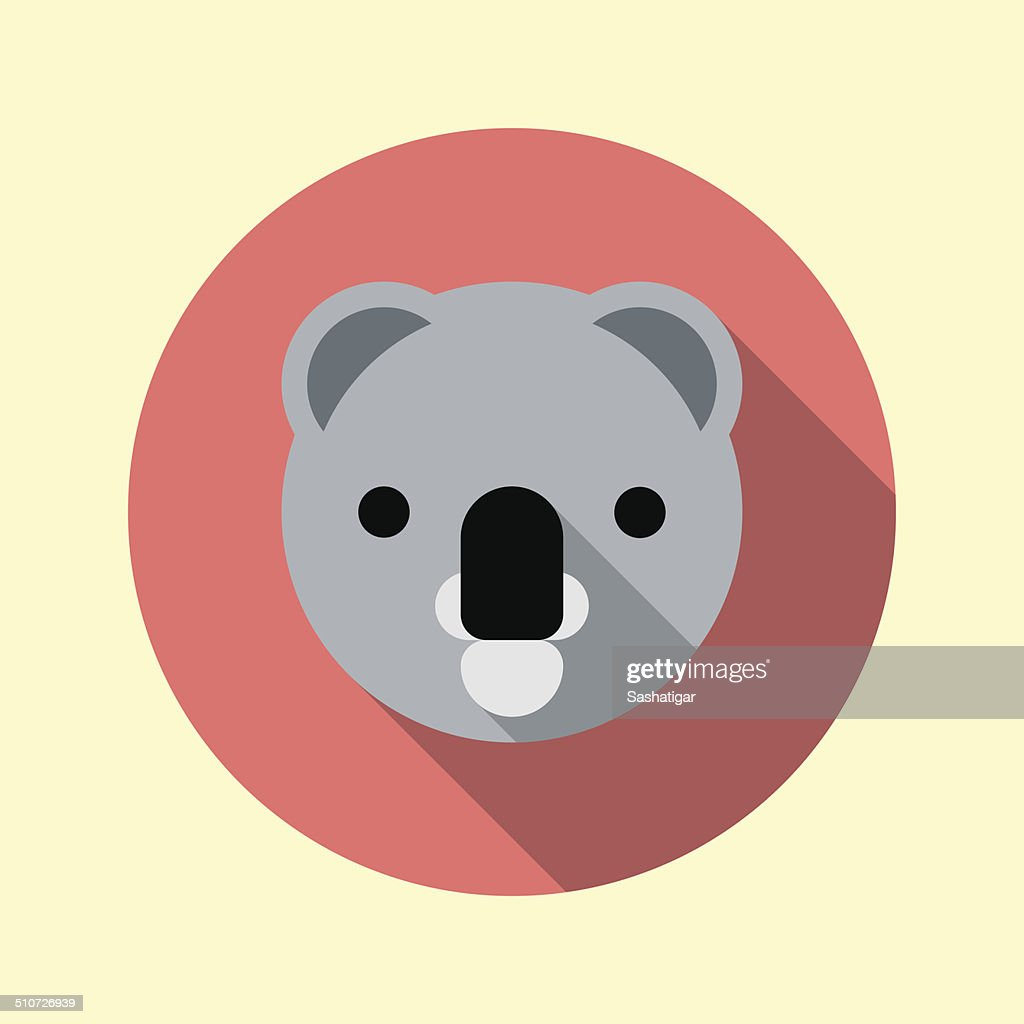 Cute little koala icon. Animal icons series.