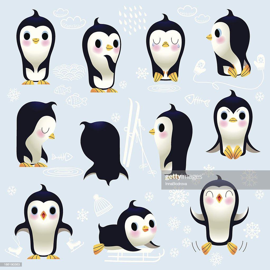 Cute Little Penguins.