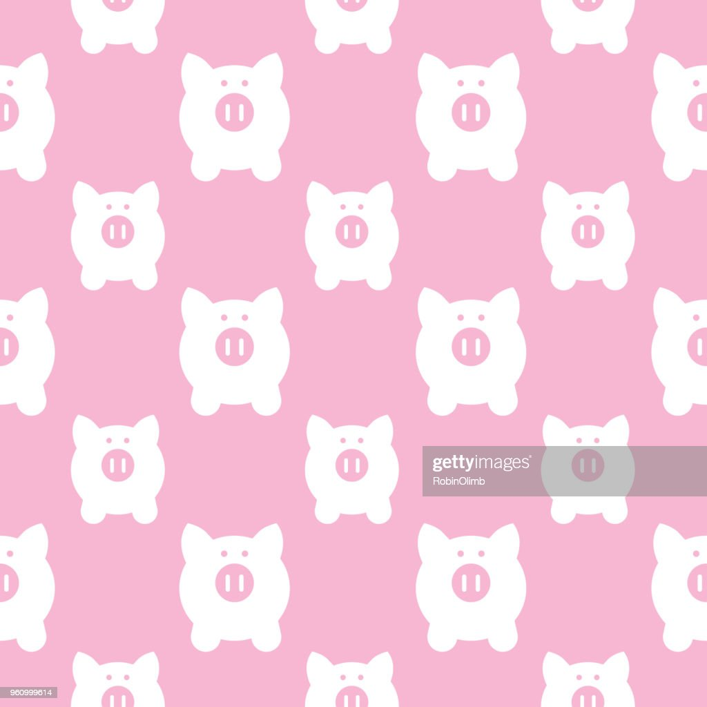 Cute Little Pigs Seamless Pattern