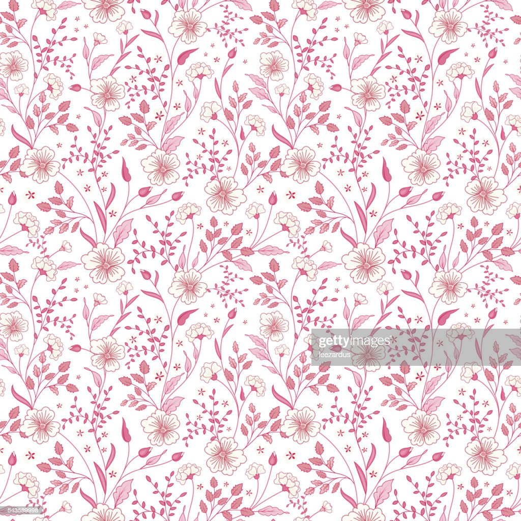cute little pink flowers seamless pattern background. vector