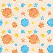 Cute little prince seamless pattern