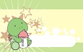 cute little turtle baby cartoon background