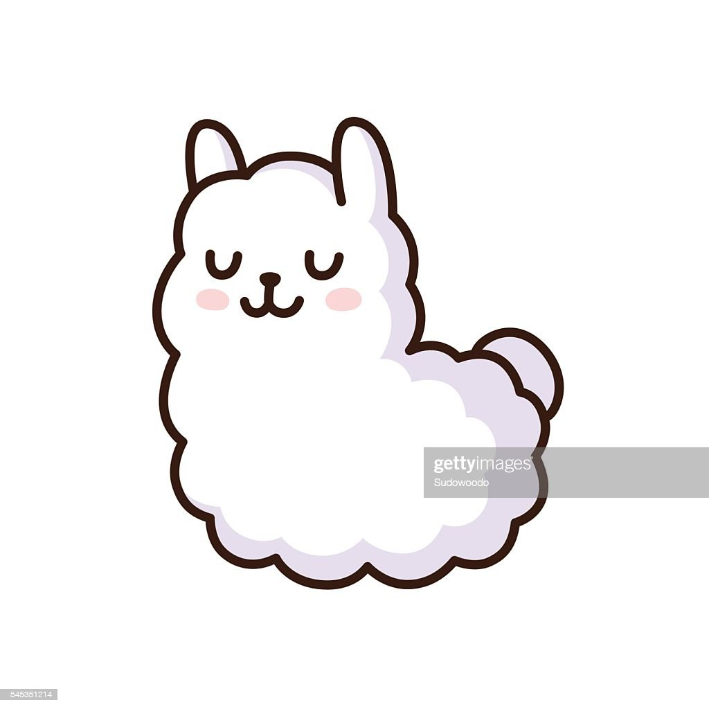 Cute llama illustration