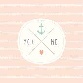 Cute love card You & Me