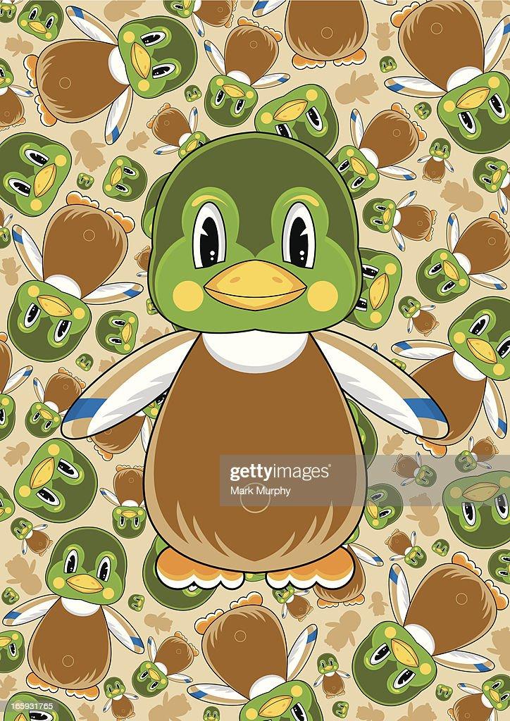 Cute Mallard Duck Pattern