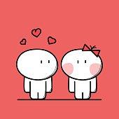 Cute man is in love