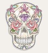 Cute mexican skull