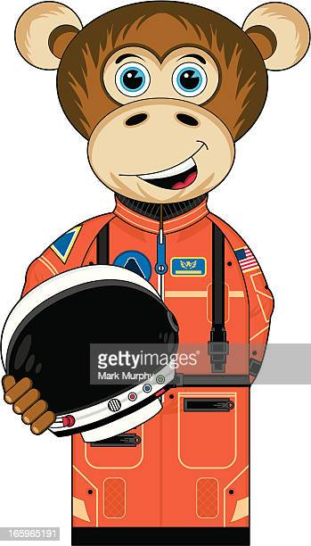 Cute Monkey Astronaut