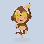 Cute monkey cartoon.