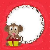 Cute Monkey for Chinese New Year celebration.