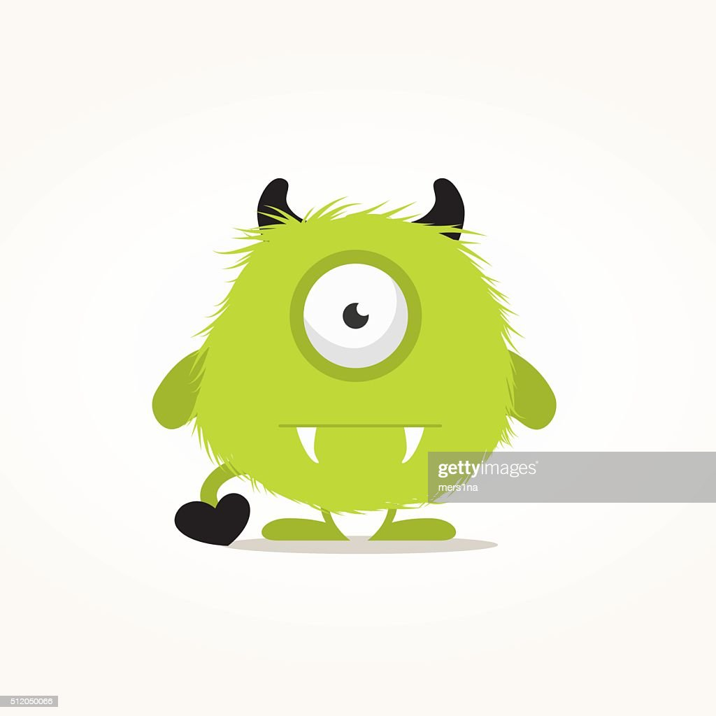 Cute monster illustration