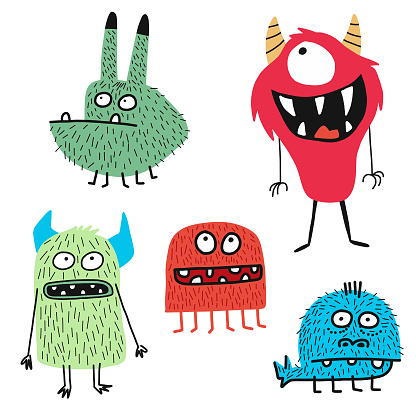Cute monsters - gettyimageskorea