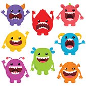 Cute Monsters With Big Mouths