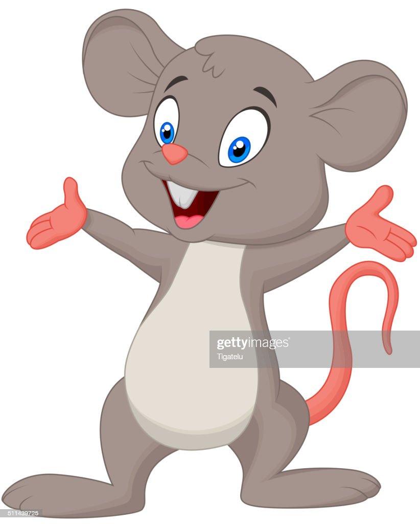 Süße Maus Comic Präsentieren Vektorgrafik Getty Images