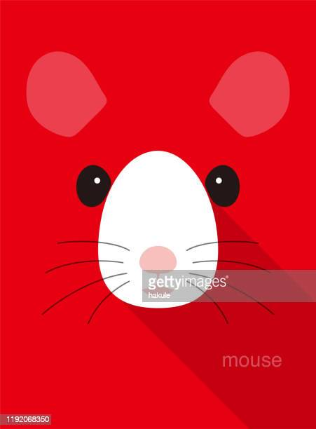 cute mouse face icon, vector illustration - cute mouse stock illustrations