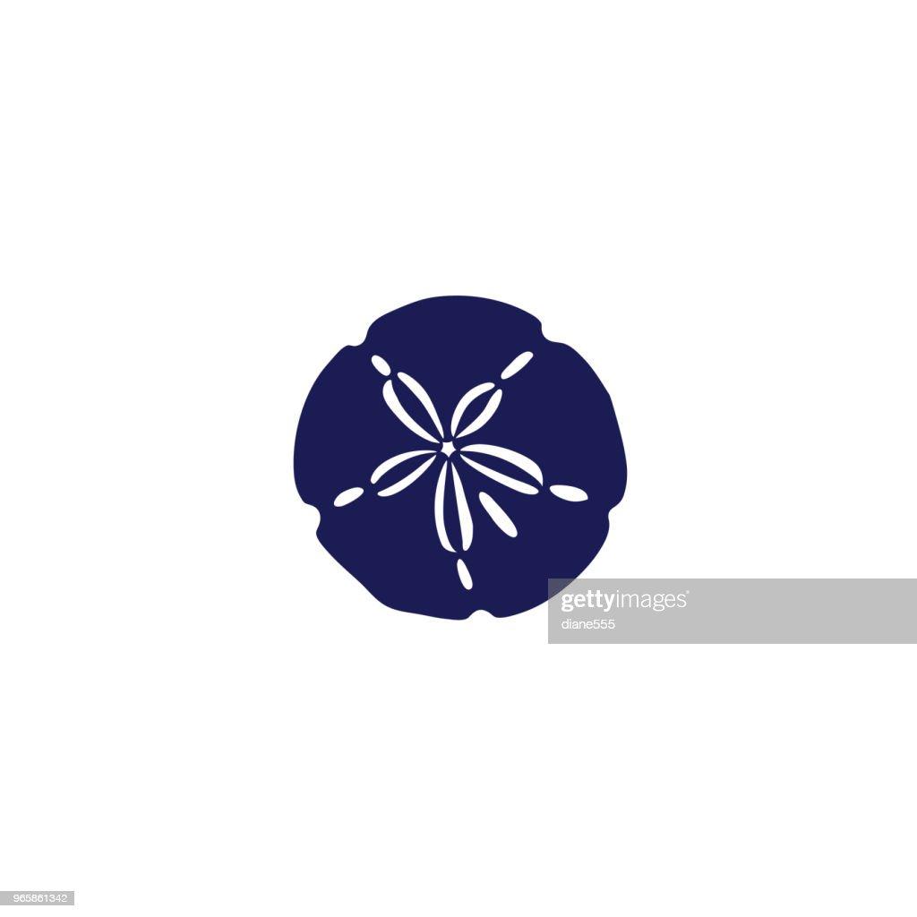 Cute Nautical Icon - Sand Dollar