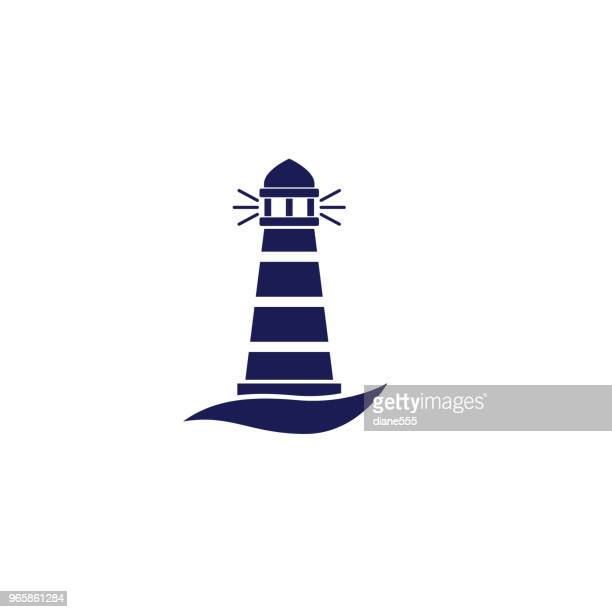 Cute Nautical Lighthouse Icon