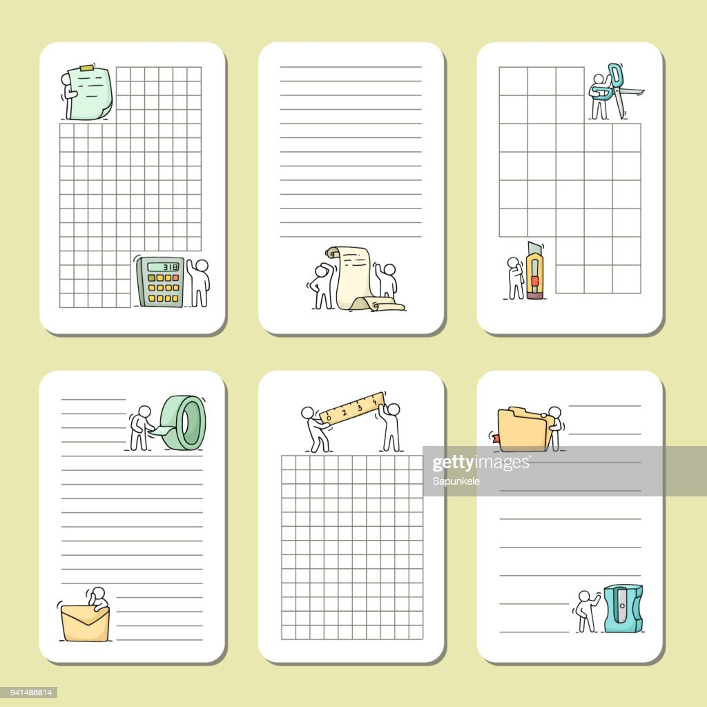 cute notes for cards, stickers, tags with people