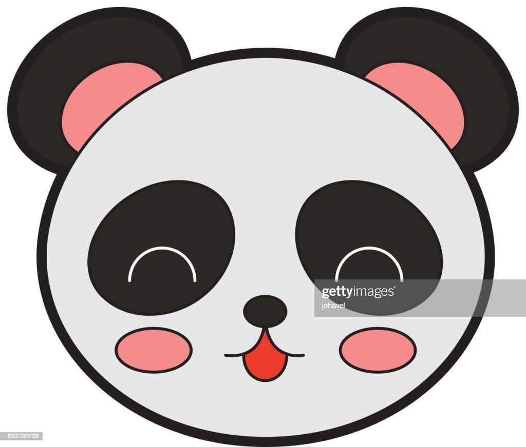 860894c43e4302 Niedlicher Panda Bär Gesicht Vektorgrafik - Getty Images