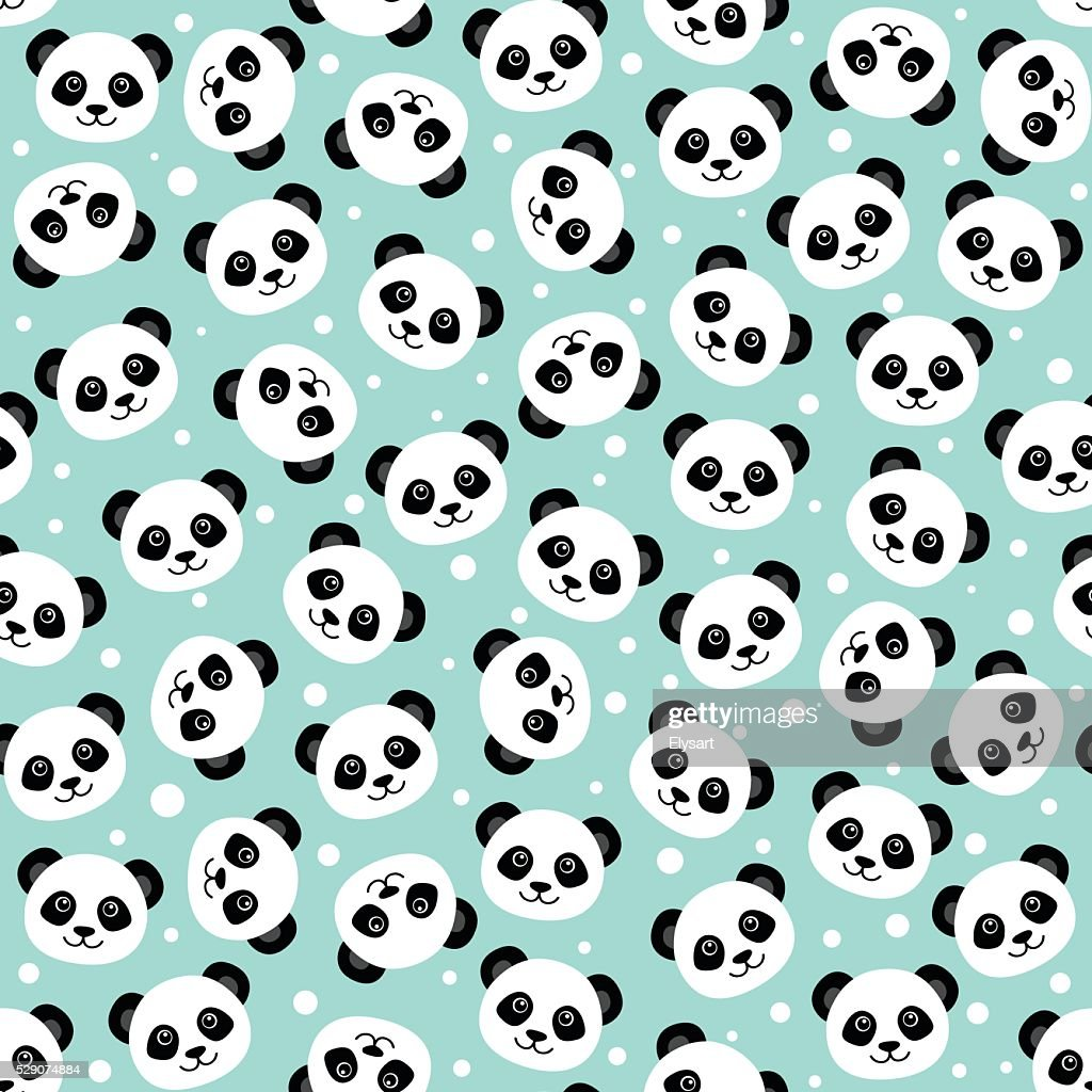 Cute panda face. Wallpaper
