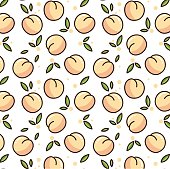 Cute peach pattern.