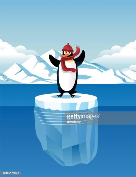 Niedlichen Pinguin und Eisberg