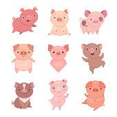 Cute piggies collection.