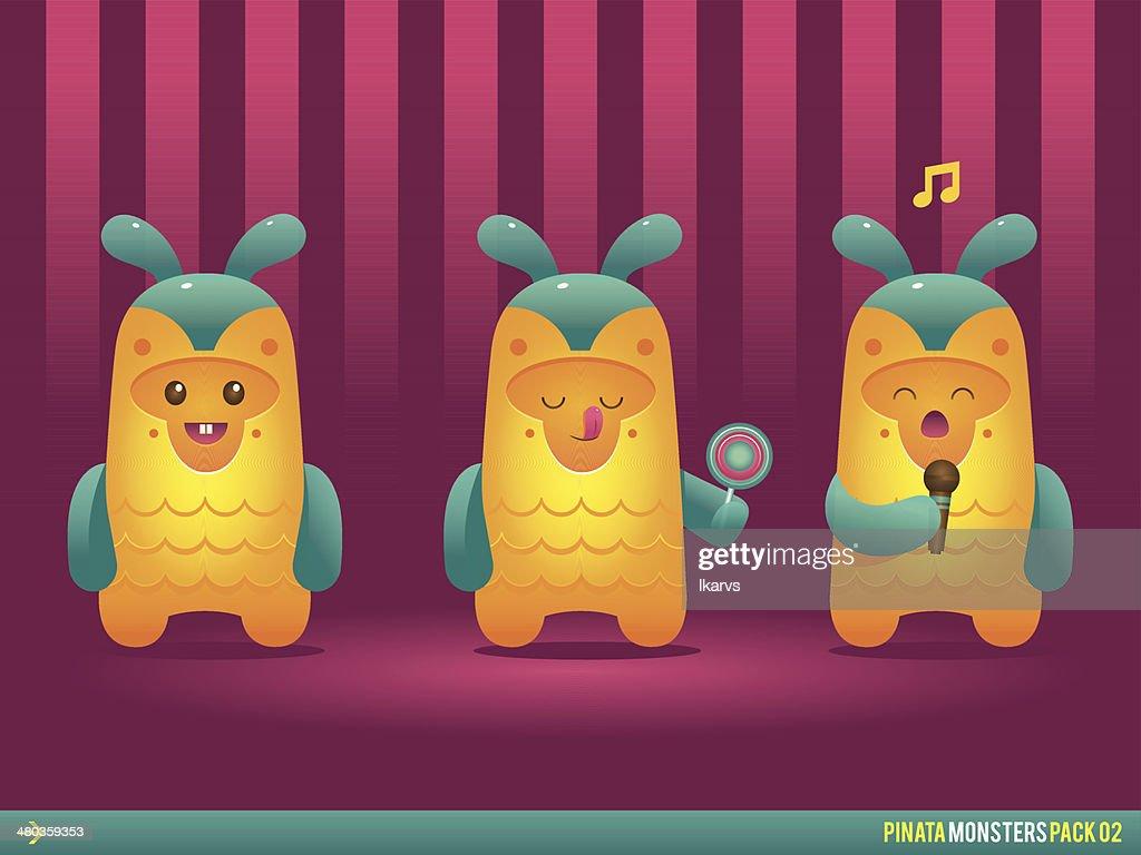 Cute Pineapple Pinata Monsters