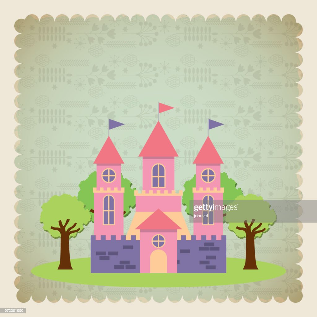 cute pink fantasy castle