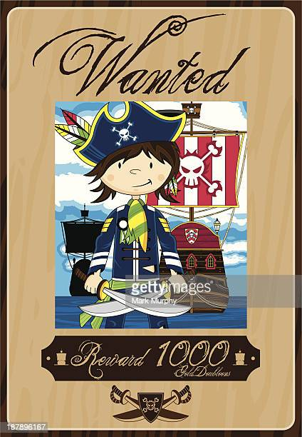 Cute Pirate Captain Wanted Poster