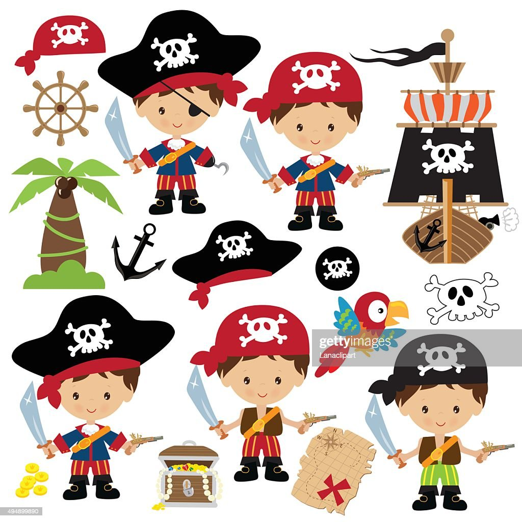 Cute pirate vector illustration