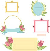 Cute printable photo frames and journaling cards  for your design.