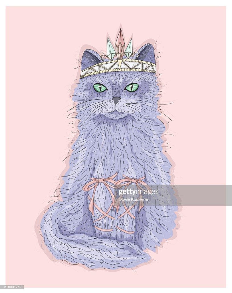 Cute purple cat princess